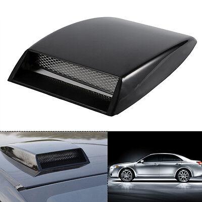 UNIVERSAL CAR AUTO AIR FLOW INTAKE SCOOP BONNET VENT COVER HOOD Black White
