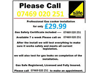 Birmingham Gas engineer - cooker hob oven installer certificate safe reginstered corgi