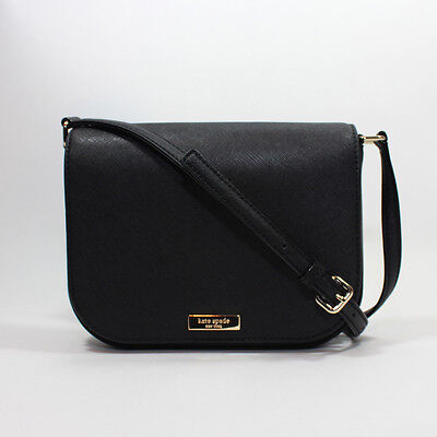 NEW Kate Spade Laurel Way Large Carsen Crossbody Black Saffiano Leather Handbag