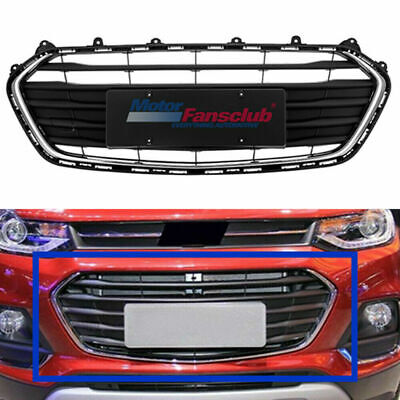 Front Bumper Grill Lower Grille For Chevrolet Trax 2017-2018 Black Chrome Trim Chrome Lower Grille