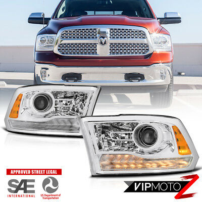 13-18 Dodge Ram Truck/Pickup LED Projector Headlight Factory Style Replacement