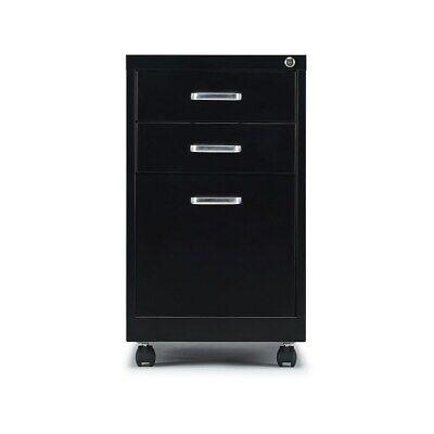 Staples 3-Drawer Vertical File Cabinet Locking Letter Black 19