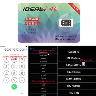 1X Ideal Unlock Turbo Sim Card Gpp For Iphone 7 8 5S 5C Se 6S Plus 5 Lte Ios 11