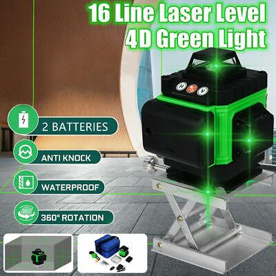 4d 16 Line Laser Level Auto Self Leveling 360 Rotary Cross Measure Tool Wbase