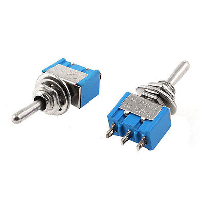 1510pcs Mini Momentary Toggle Switch 3pin Spdt On Off On Ac 125v 6a