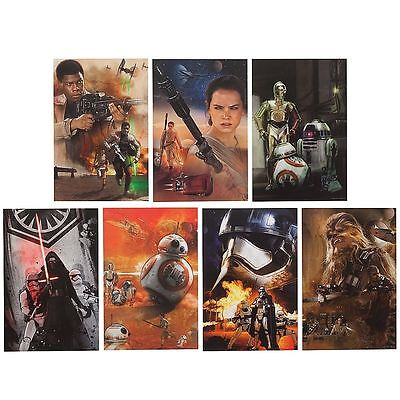 Star Wars 7 Lithographs Set DISNEY STORE The Force Awakens Limited Edition £ 25