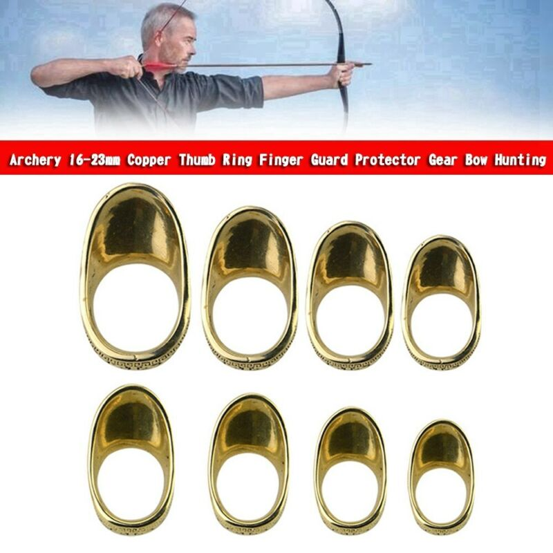 Archery 21mm Copper Thumb Ring Finger Guard Protector Gear Bow Hunting U8