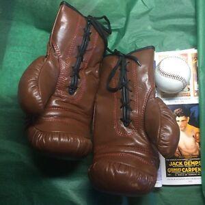 1920-1930 Antique style Boxing Gloves Joe Louis Era    The golden age look
