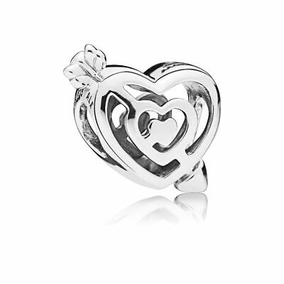 Love Sterling Silver Charms Pendants (New Authentic Pandora Charms Sterling Silver Love Bracelet Charm Bead Pendant )