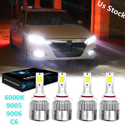 For Honda Civic 2006-2011 Sedan 4Dr Replacement LED Headlights Bulbs Kit 6000K