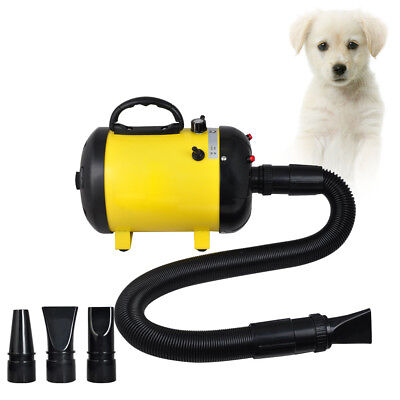 Dog Pet Grooming Dryer Hair Dryer Removable Pet Hairdryer 3 Nozzle 2400W 220V US