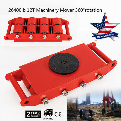 Heavy Duty 12t Machinery Mover Dolly Skate Machinery Roller Mover Cargo Trolley