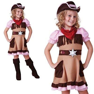 Cowgirl Cutie Kostüm Cowboy Wilder Westen Mädchen Kinder Buch Woche Tag (Mädchen Cowgirl Cutie Kostüm)