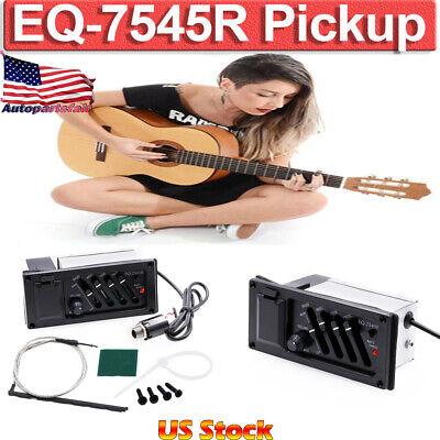 EQ-7545R 4 Bands Acoustic Guitar Pickup Equalizer System Adjustable Output Bass