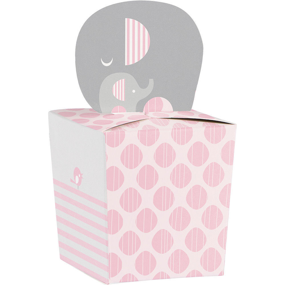 24 pcs Light Pink Plastic Baby Boy Shower Favors Blocks Party Decorations