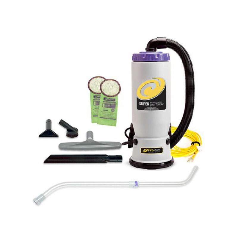 ProTeam 107103 QuarterVac 6 Quart Backpack Vacuum with 2 Piece Wand Tool Kit