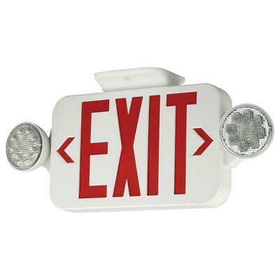Hubbell Lighting Emergency Exit Led Light Sign Suitable For Damp Locations