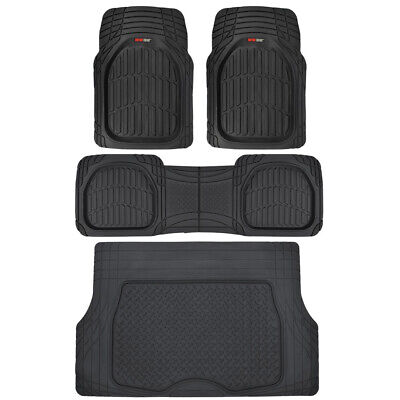 All Weather Car Truck Suv (Motor Trend All Weather HD Rubber Floor Mats for Car SUV VAN Truck w/ Trunk Mat )
