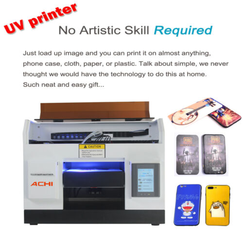 A4 UV Printer 6 Color for Phone case Glass Metal Wood Badge