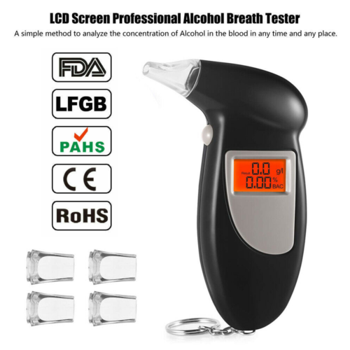 LCD Digital Analyzer Detector Alcohol Tester Test New Keychain Breathalyzer  UK