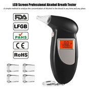 Digital LCD Alcohol Breath Analyzer Breathalyzer Tester Detector Test Key Chai