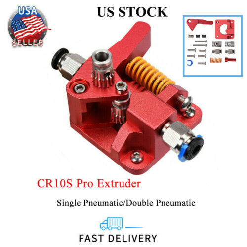 US Stock CR10S PRO Dual Gear Extruder Upgrade MK8 Extruder for Ender 3/5 CR10S