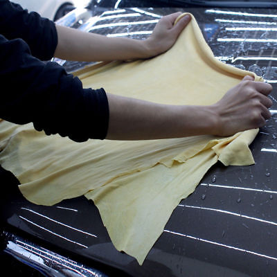 1Pc Natural Chamois Leather Car Cleaning Cloth Washing Suede Absorbent Towel New