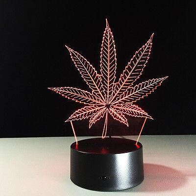 Night Light Acrylic Lamp LED Maple Leaf Home Decoration Christmas Gift