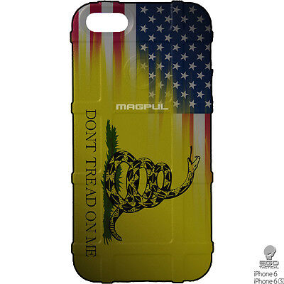 Magpul Field Case for iPhone 6,6s,7,7+,8,8+.  Don't Tread On Me USA Ego