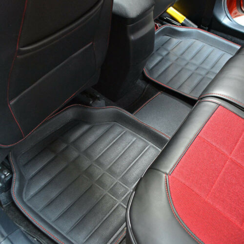 Universal Black Car Floor Mats Floor Liner Front & Rear