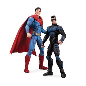 DC Collectibles Injustice Superman vs. Nightwing Action Figure, 2-Pack. NEW!