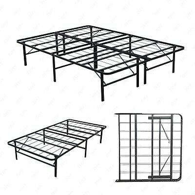 metal bed frame platform mattress foundation twin full queen king cal - California King Metal Bed Frame