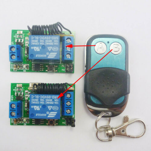 1+2 DC 5V RF Wireless Switch Delay Relay Time Timer Remote Control EV1527 433M