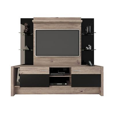 Manhattan Comfort 22956 Morning Side Entertainment Center  Nature And Black New