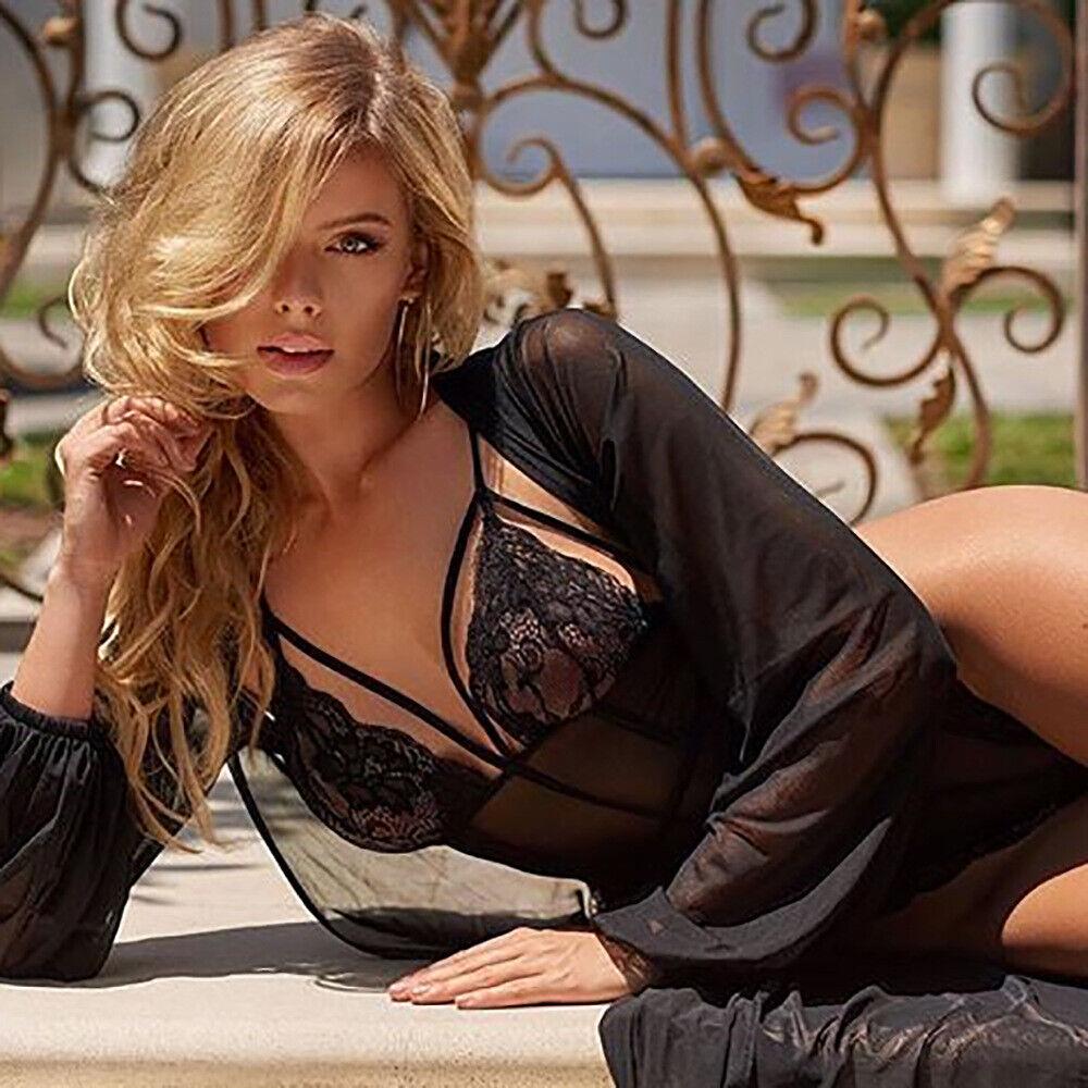 Women Sexy Lingerie Lace Bodysuit One Piece Teddy Underwear Shapewear Nightwear Clothing, Shoes & Accessories