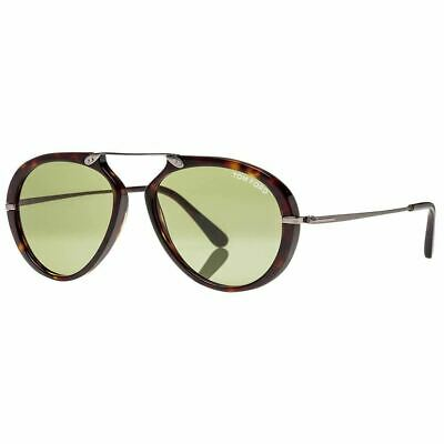 Tom Ford Aaron Men's Sunglasses With Green Lens FT0473 (Tom Ford Aviator Sunglasses Men)