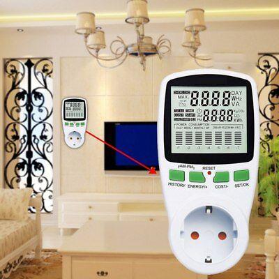 Power Consumption Energy Watt Amps Volt Meter Electricity Monitor Analyzer Tools