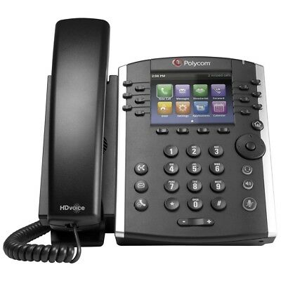 Polycom Vvx 411 Voip Business Media Phone 2201-48450-001 With Ac