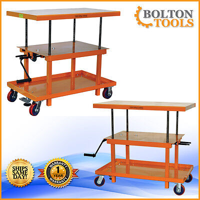 Bolton Tools 2200 Lb Mechanical Hand-crank Hydraulic Lift Table Mt2442