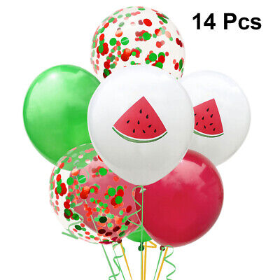 14pcs Balloons Latex Cute Watermelon Print Hanging Balloons for Party Decoration](14 Balloons)