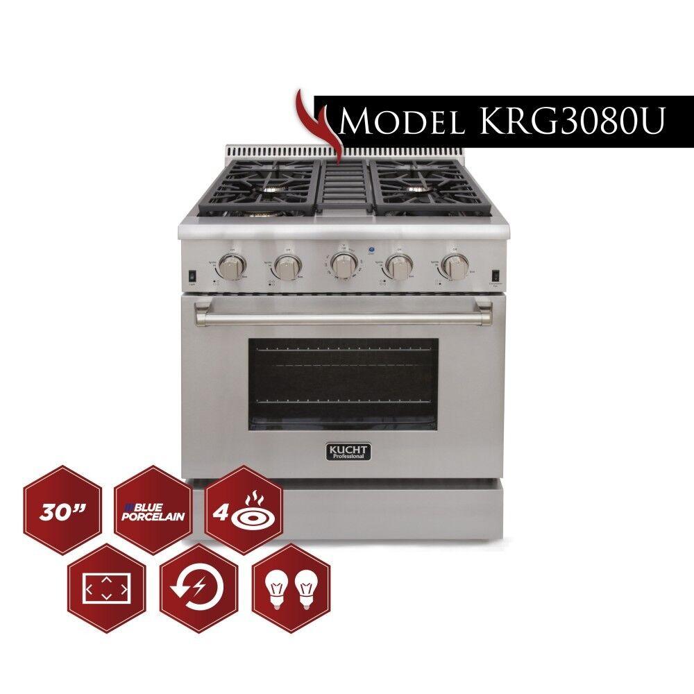 "Kucht KRG3080U 30"" Professional-Class Natural Gas  Gas Range"
