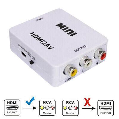 HDMI To RCA Mini Composite 1080P Audio Video AV CVBS Adapter Converter For -