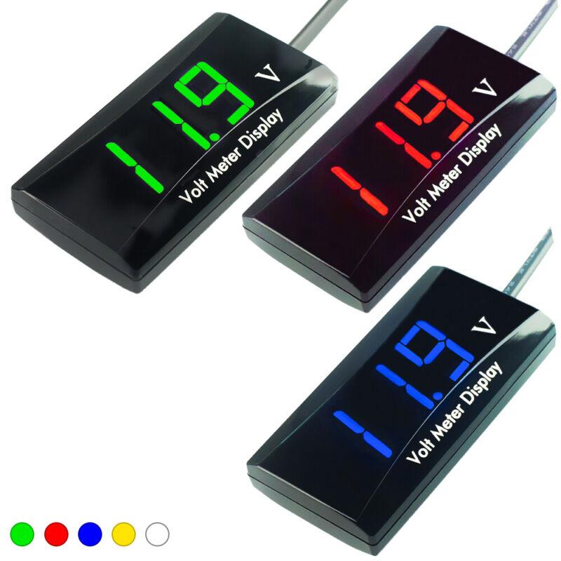 12V Digital LED Display Voltmeter Voltage Gauge Panel Meter Car Motorcycle