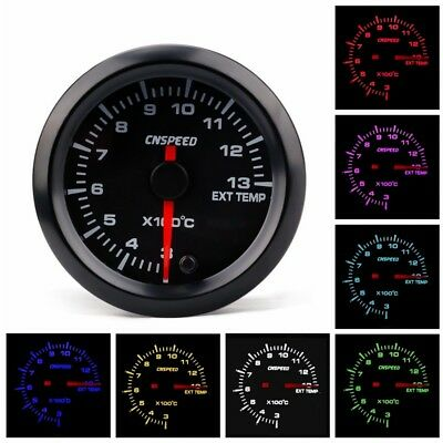"2"" 52mm Car Exhaust Gas Temp Gauge LED Pointer EGT Temperature Meter + Sensor"