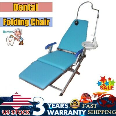 Dental Portable Folding Chair Set With Water Supply System Cuspidor Tray Usa
