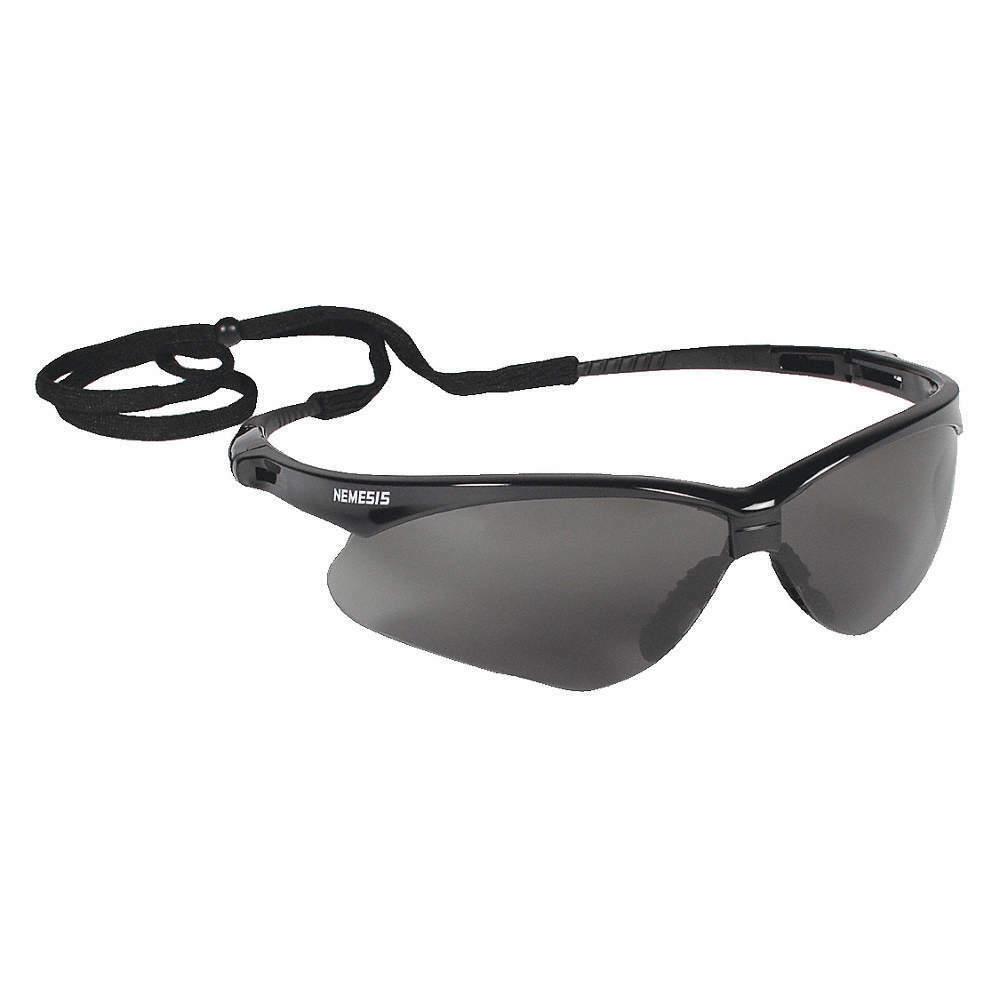 Jackson Nemesis V30 Safety Glasses/Sunglasses Various Colors & Quantities  22475 - Black Frame/Smoke AF Lens