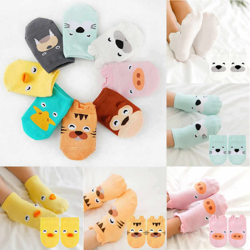 Baby Infant Ankle Socks Newborn Cotton Boys Girls Cartoon Pr