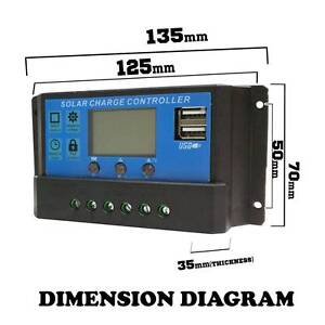 20A 12V-24V LCD PWM Solar Panel Regulator Charge Control & Timer Wangara Wanneroo Area Preview