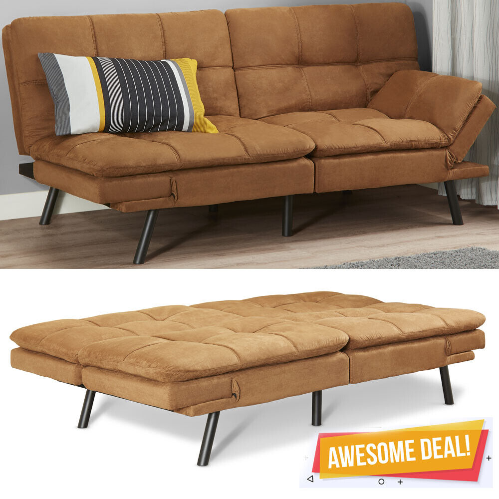 memory foam futon sofa bed couch sleeper
