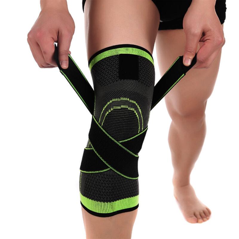 2*Knee Sleeve Brace Support Compression Gym